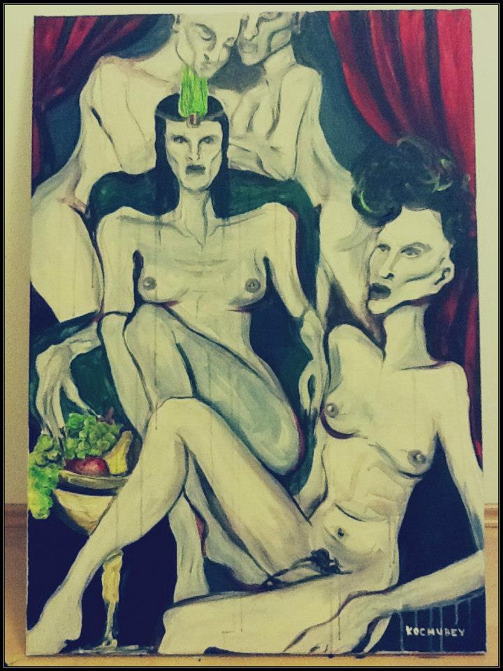 Impressing the Empress. 70x 100. acryl on canvas