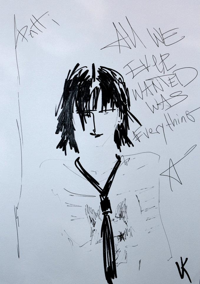 Patti Smith#2 sold for the charity @ A3 ink on paper by Veronika Kochubey