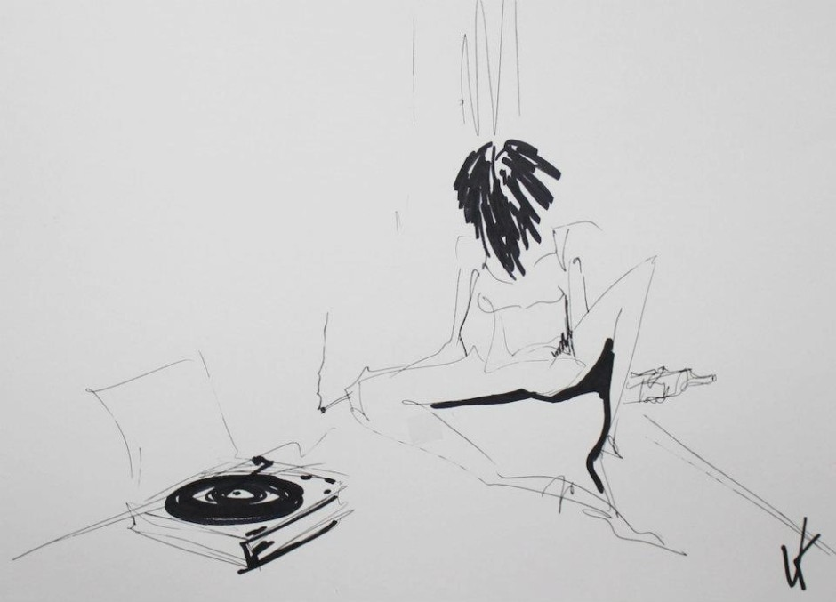 Patti Smith#1 sold for the charity @ A3 ink on paper by Veronika Kochubey